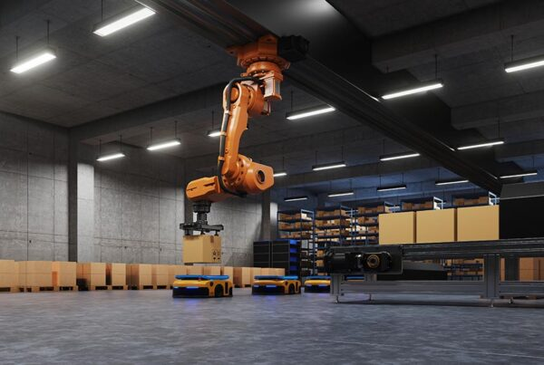 robotic arm packing logistics systems using automated guided vehicle agv